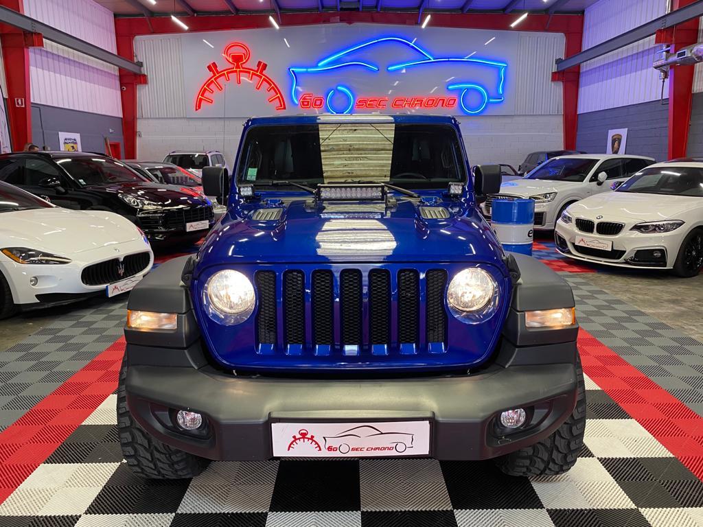 devant jeep wrangler bleu dans le garage 60 secondes chrono